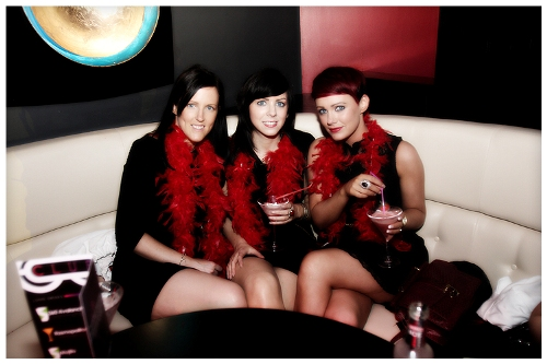 Ladies enjoying the cocktails at Club 360