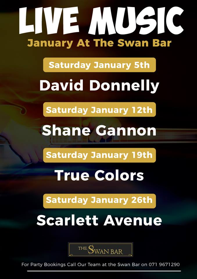 MyCarrick Event - The Swan - The Swan Bar - Live Music