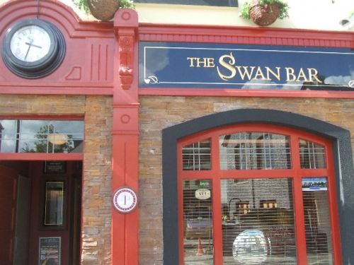 Streetside view of Swan Bar