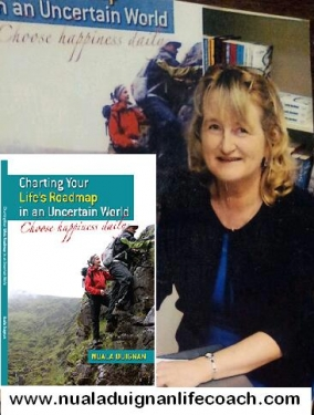 Nuala Duignan with her book