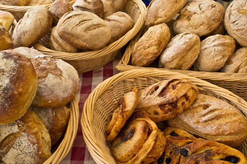 A selection of breads  at the Farmers Market