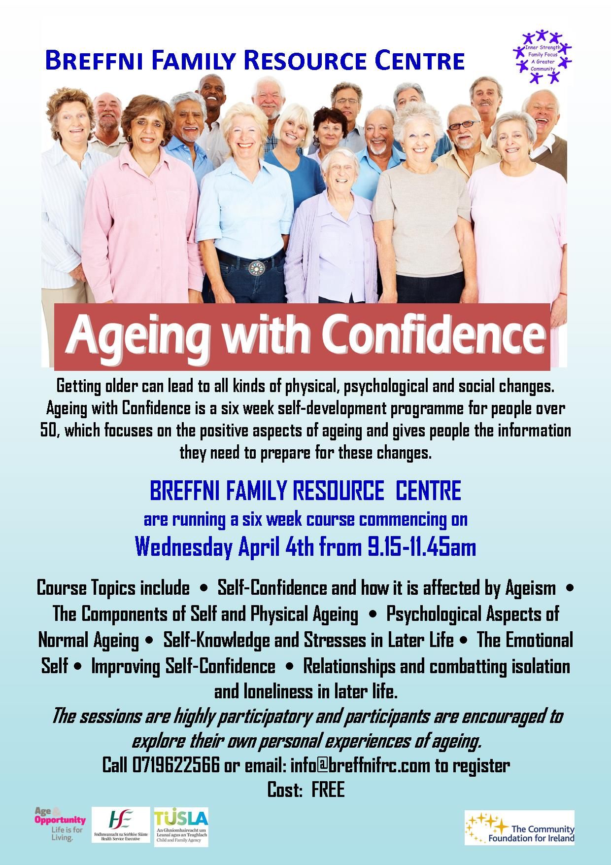 MyCarrick Event - Breffni Family Resource Centre - Ageing with Confidence