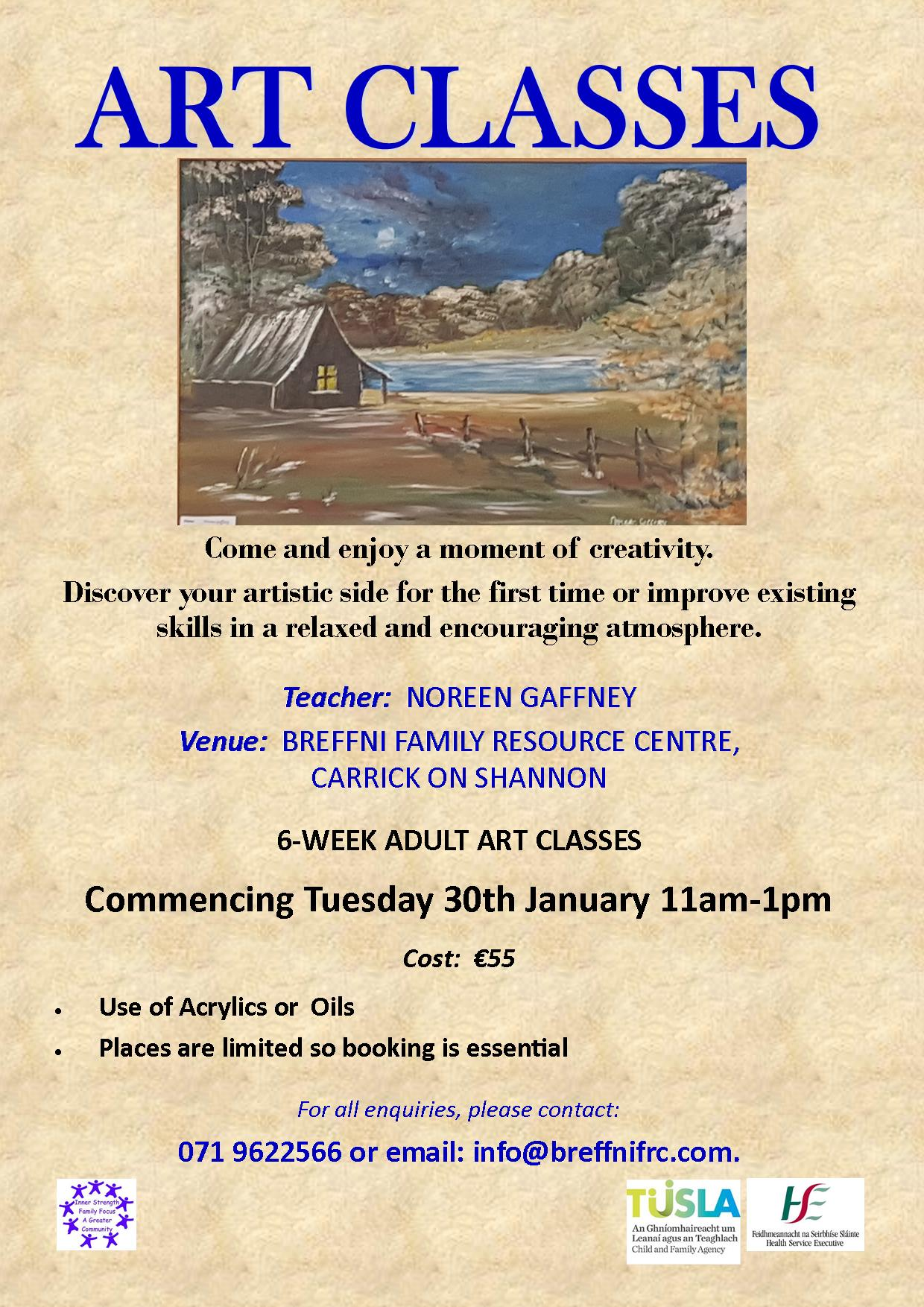 MyCarrick Event - Breffni Family Resource Centre - Art with Noreen