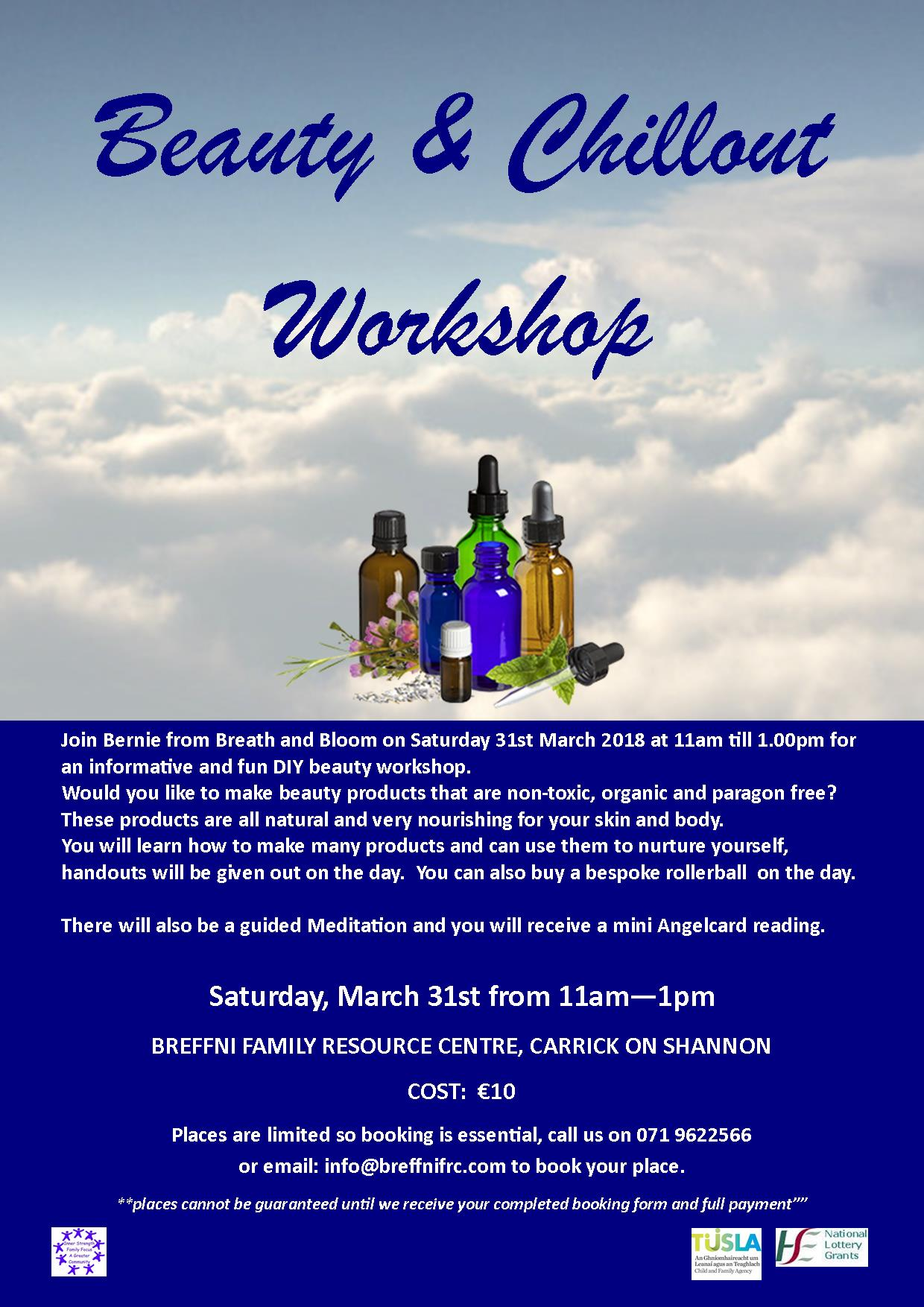 MyCarrick Event - Breffni Family Resource Centre - Beauty & Chillout Workshop
