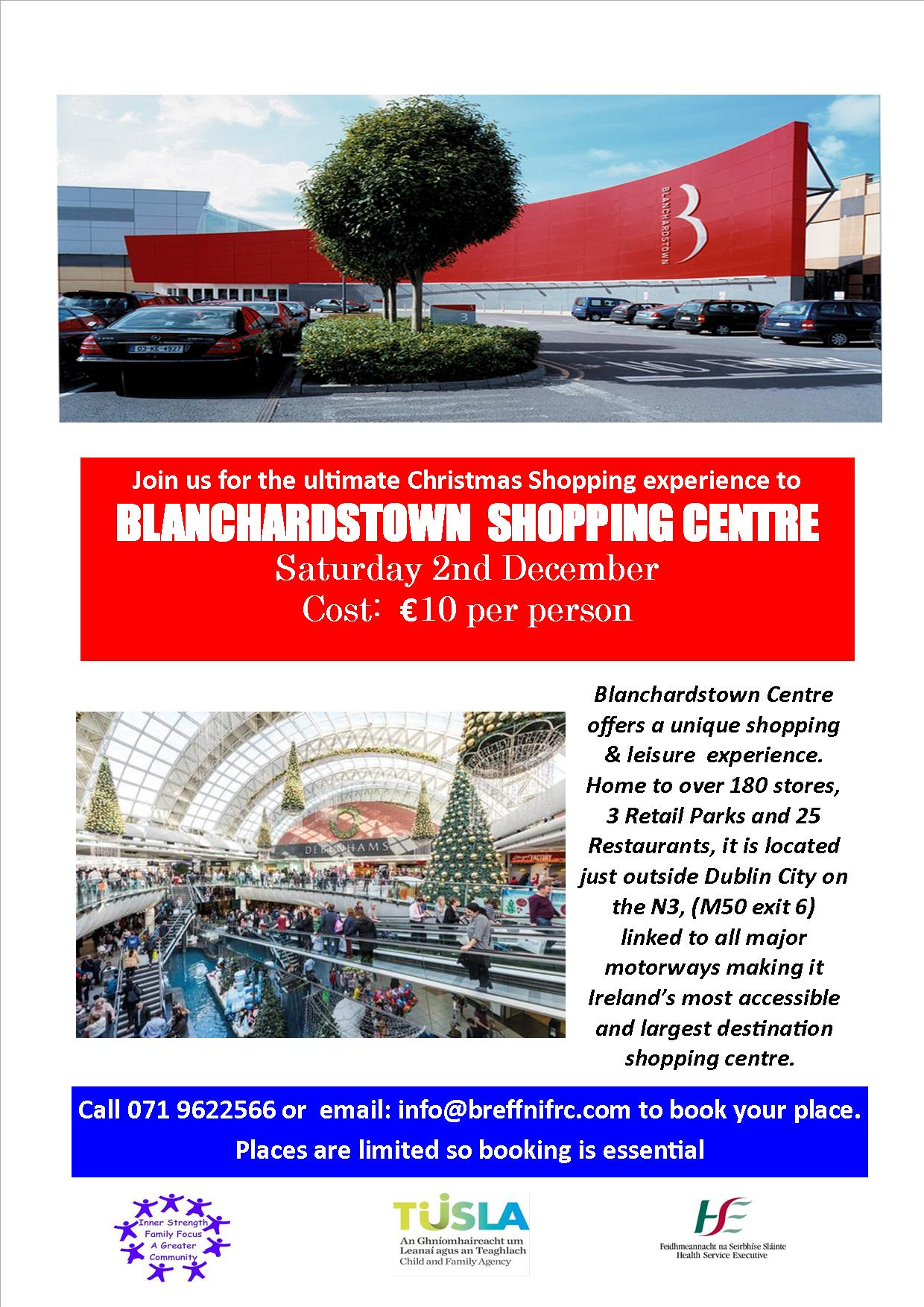 MyCarrick Event - Breffni Family Resource Centre - Trip to Blanchardstown Shopping Centre