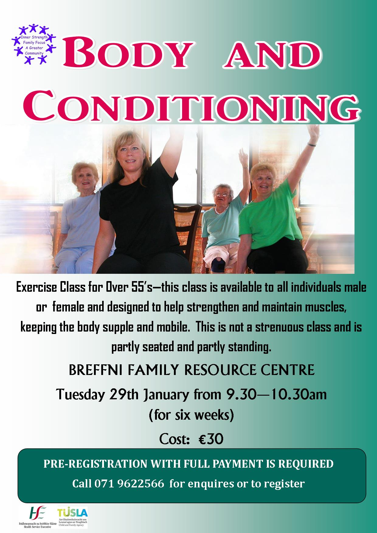 MyCarrick Event - Breffni Family Resource Centre - Body & Conditioning Exercise Classes