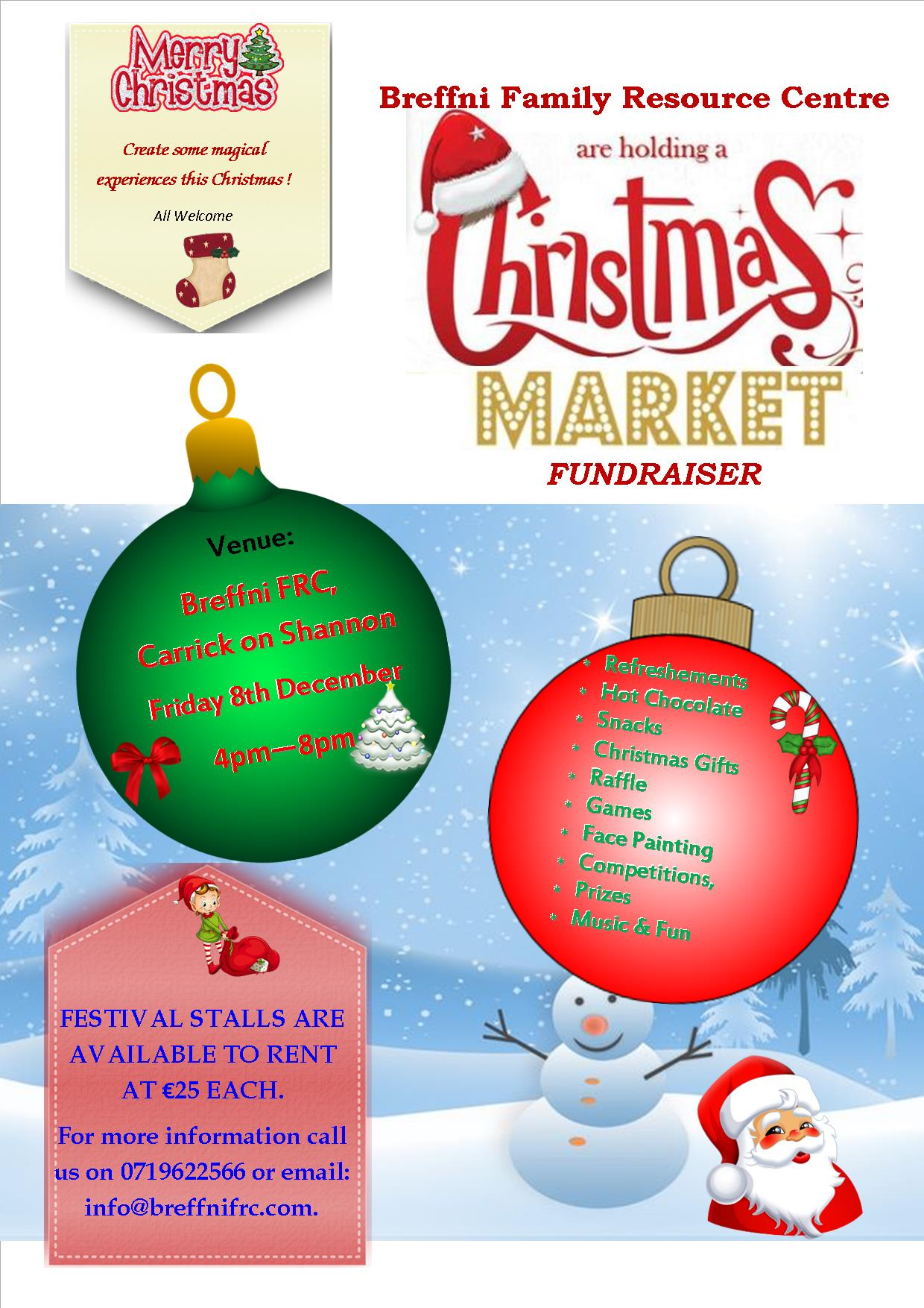 MyCarrick Event - Breffni Family Resource Centre - Christmas Market Festival