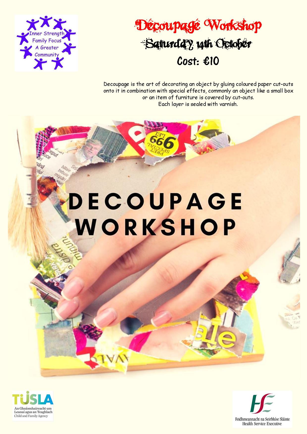 MyCarrick Event - Breffni Family Resource Centre - Decoupage