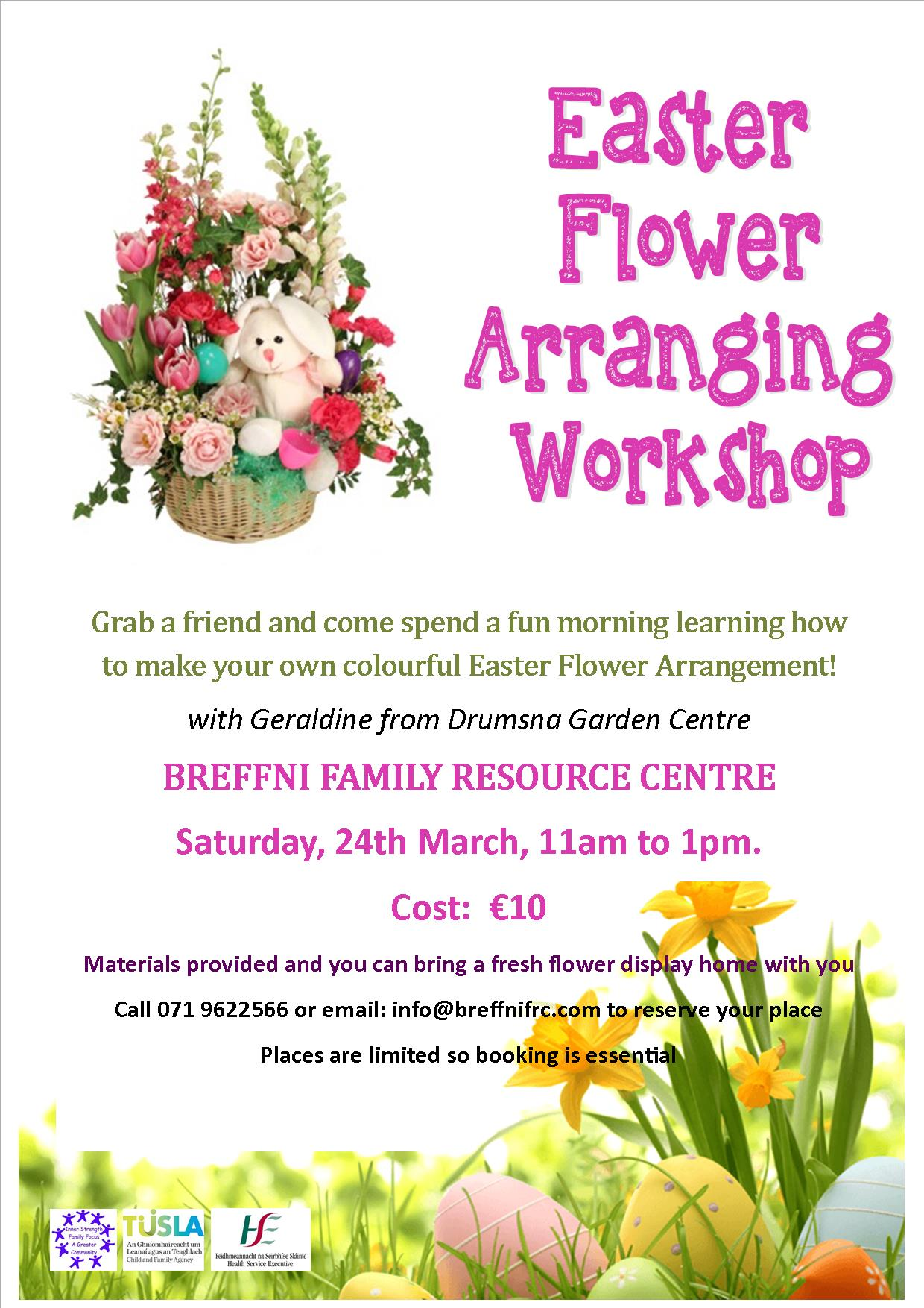 MyCarrick Event - Breffni Family Resource Centre - Easter Flower Arranging