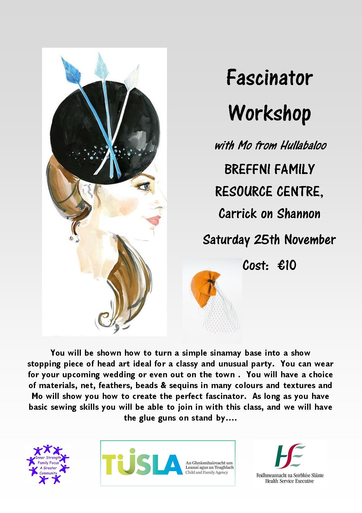 MyCarrick Event - Breffni Family Resource Centre - Fascinator Workshop