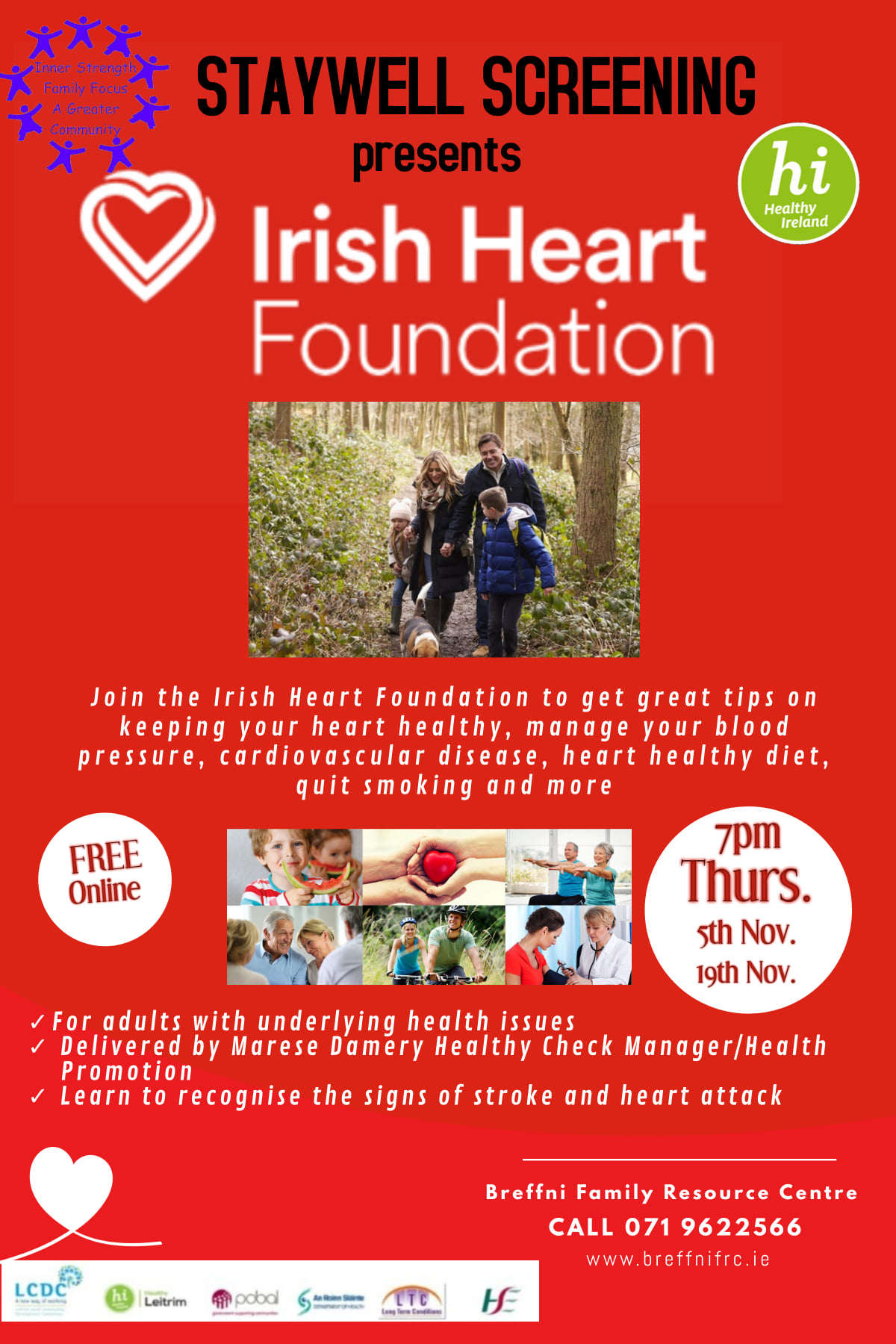 MyCarrick Event - Breffni Family Resource Centre - Irish Heart Foundation Talk