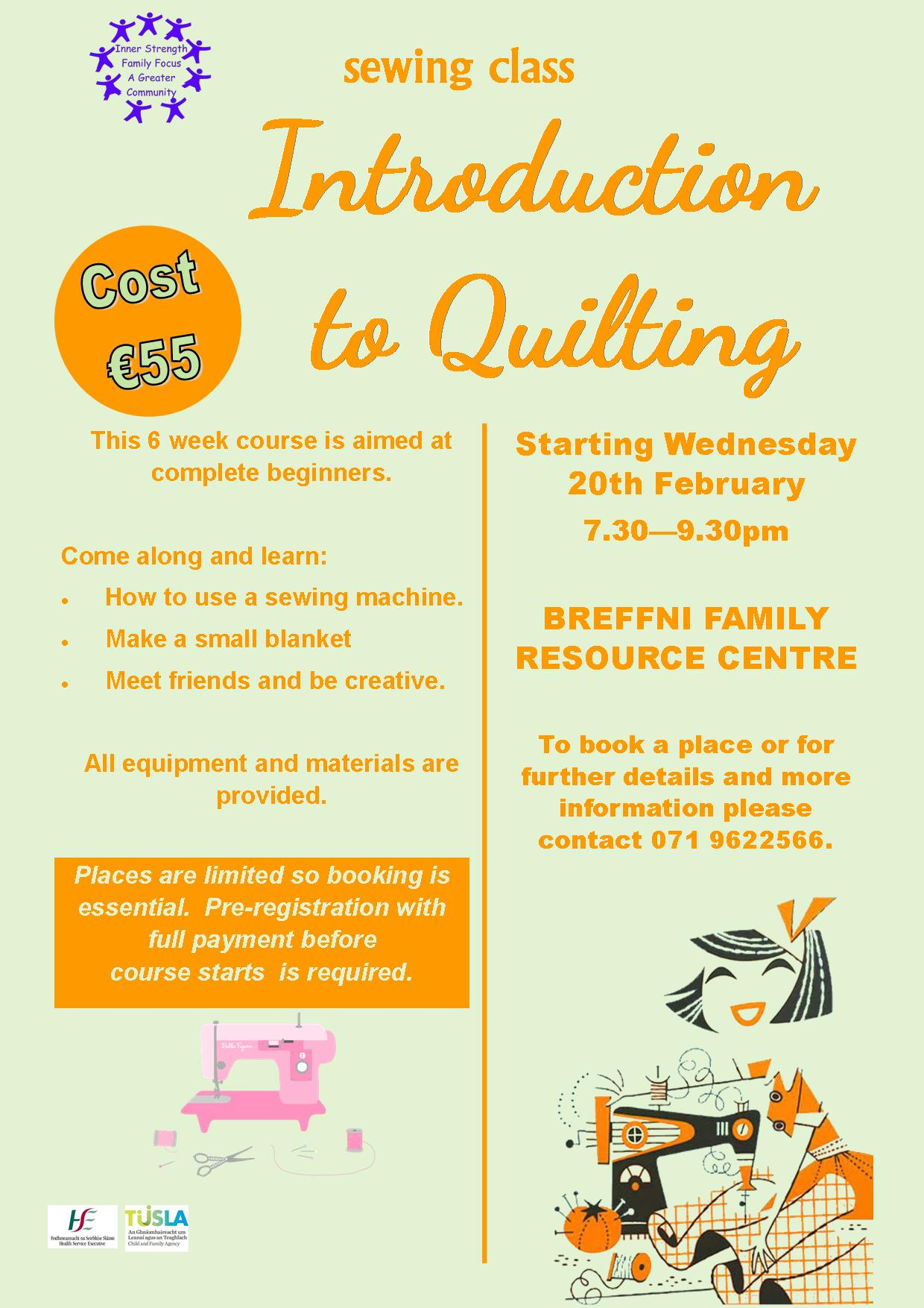 MyCarrick Event | Breffni Family Resource Centre : Introduction to Quilting