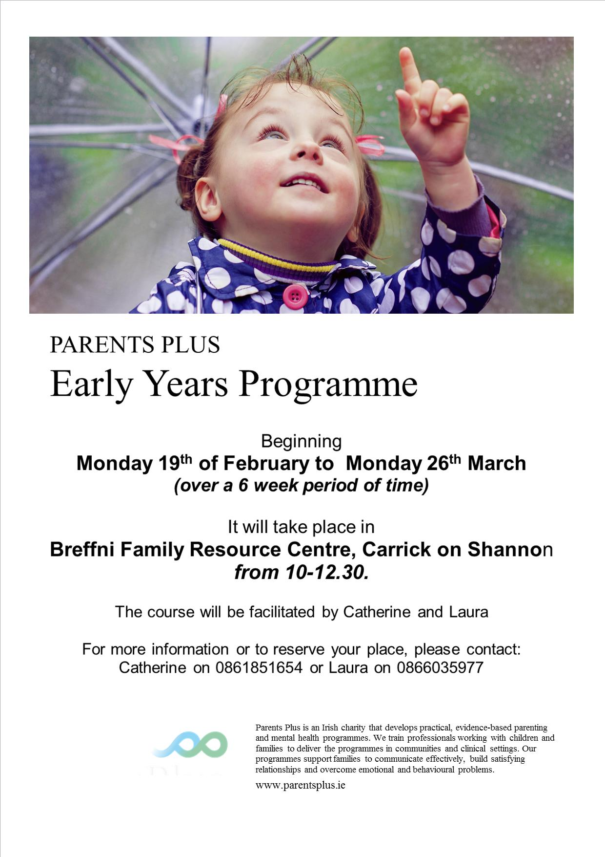 MyCarrick Event - Breffni Family Resource Centre - Parents Plus Early Years Programme