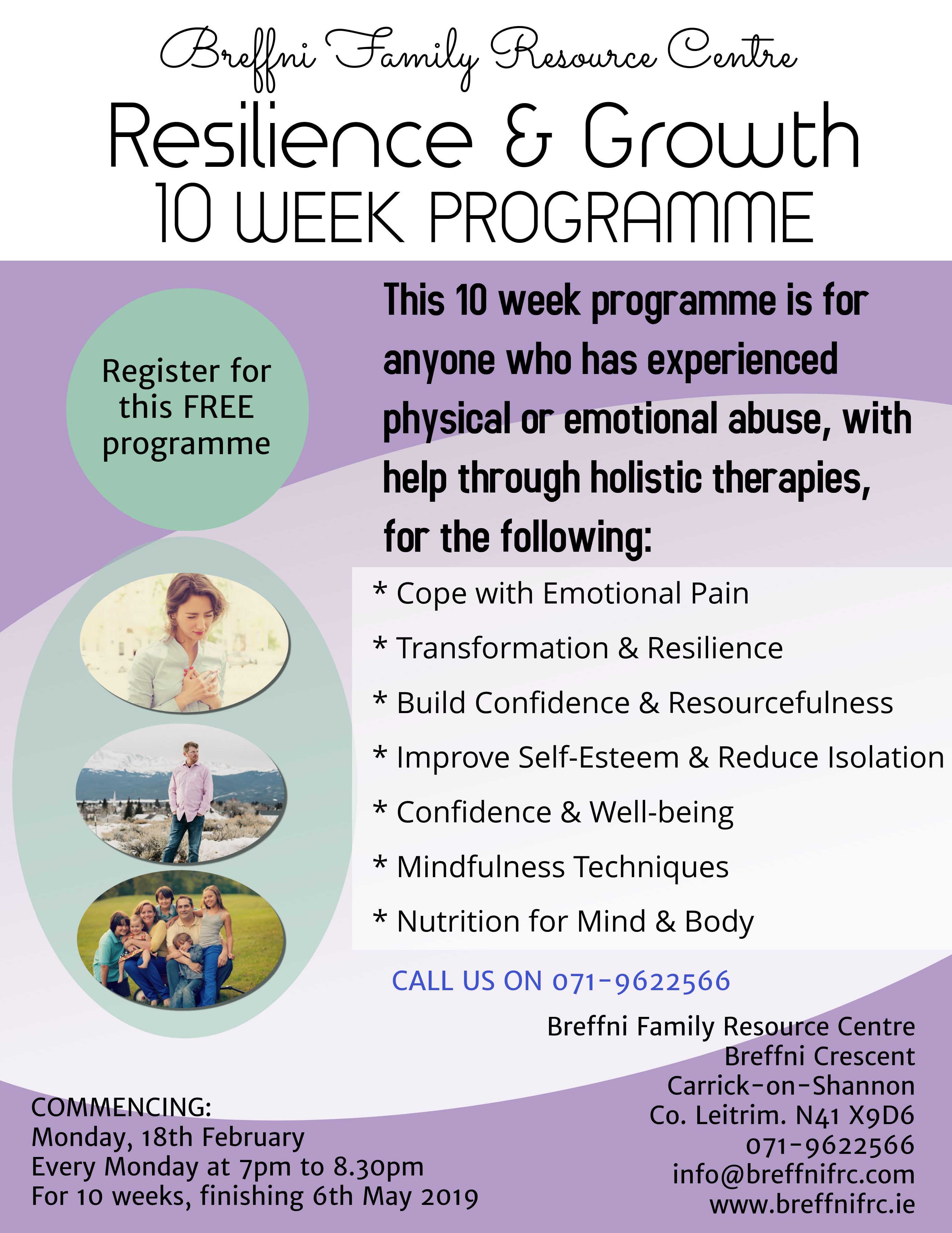 MyCarrick Event | Breffni Family Resource Centre : Resilience & Growth