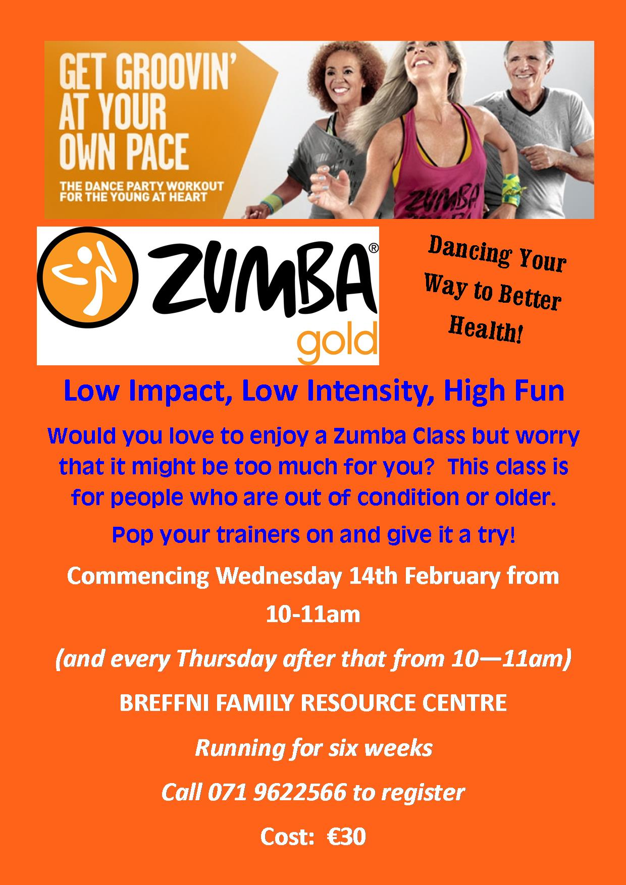 MyCarrick Event - Breffni Family Resource Centre - Zumba Gold