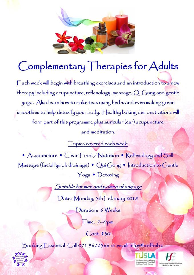MyCarrick Event - Breffni Family Resource Centre - Complementary Therapies for Adults