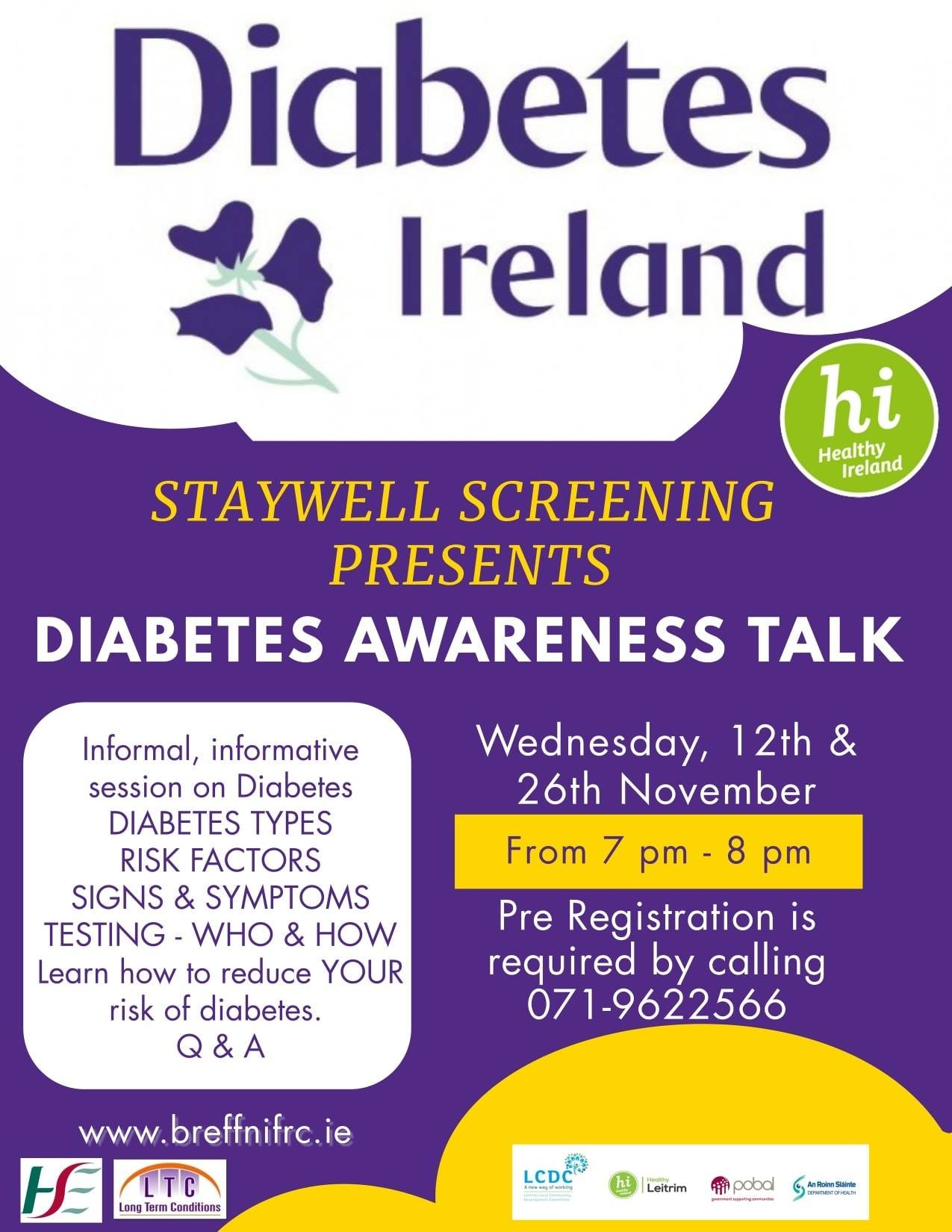 MyCarrick Event - Breffni Family Resource Centre - Diabetes Awareness Talk