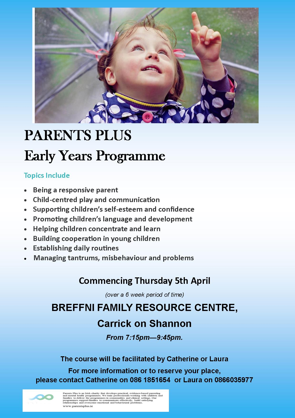 MyCarrick Event - Breffni Family Resource Centre - Early Years Parenting Programme