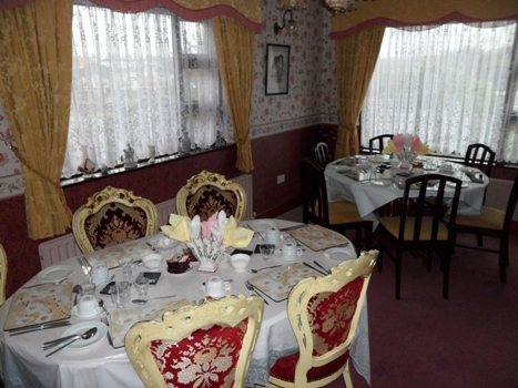 Dining room in Attyrory Lodge