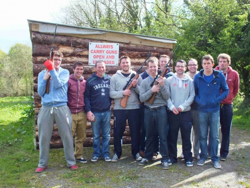 Stag Party clay pigeon shooting at Lough Gara