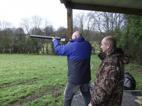 Clay Pigeon shooting at Lough Gara