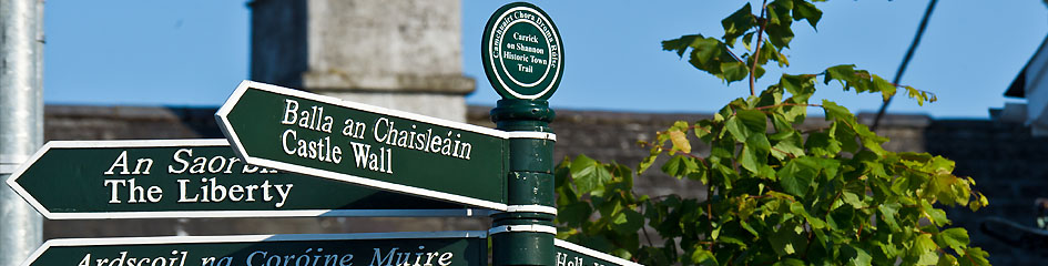 MyCarrick.ie - Tourist Information in Carrick on Shannon - Sign post